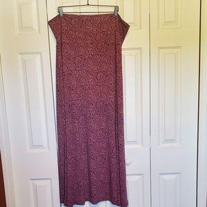LulaRoe Paisley Maxi Skirt - 3X